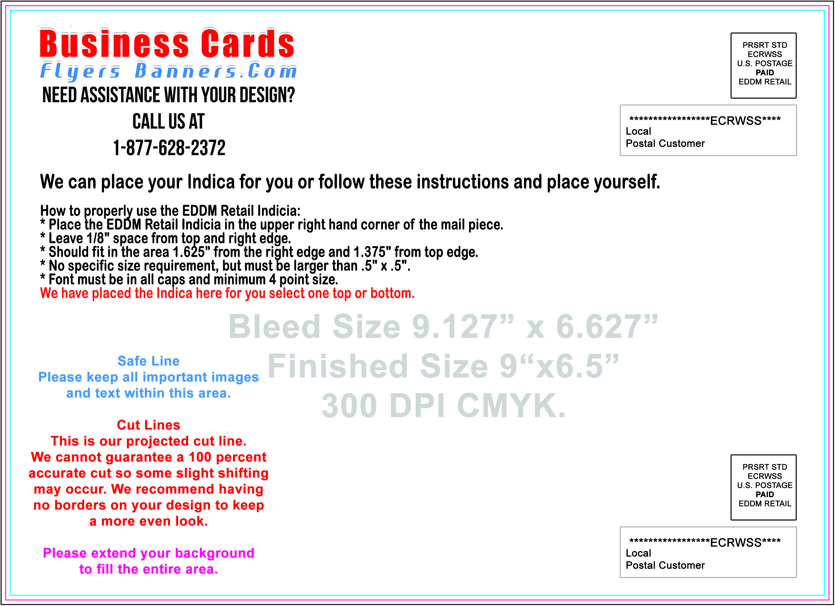 Eddm postcard templates eddmdiscounts for Usps every door direct mail template